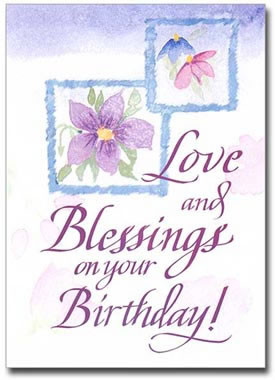 Sisters Of Carmel Love And Blessings Birthday Card