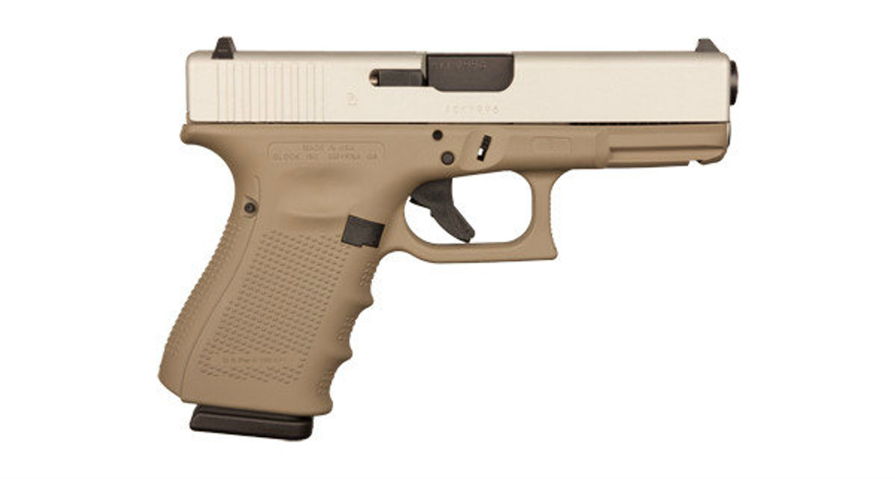 Glock 19 9mm - Gen 4 - Flat Dark Earth / Aluminum