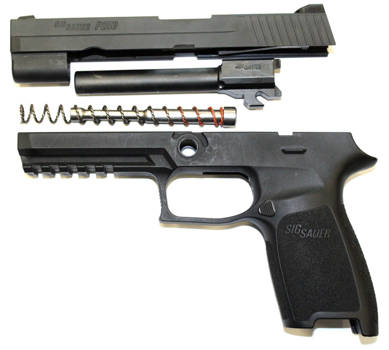 Sig Sauer P250 Full Size Grip Module W/ Complete 9mm Slide Assembly - 9mm