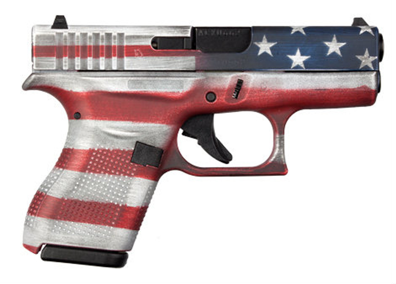 Glock 42 380 ACP - Cerakote Battleworn USA Flag