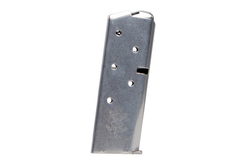 7 round magazine for a Springfield Armory 911 that is chambered in 9mm. Constructed from Stainless Steel.