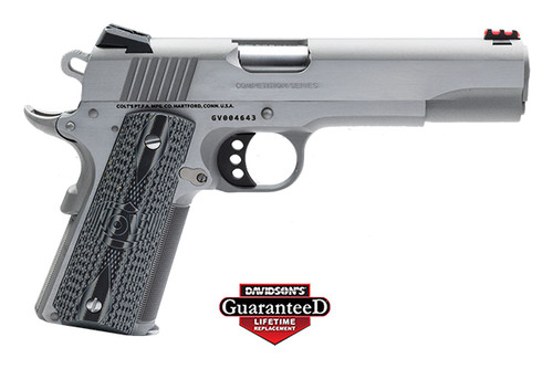 This is a Colt 1911 chambered in .38 super. Limited production of 100, Enhanced Competition model with G10 Grips.