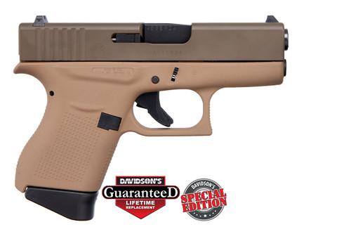 Glock Pistol - 43 - 9mm - Cerakote Davidson's Dark Earth & Patriot Brown