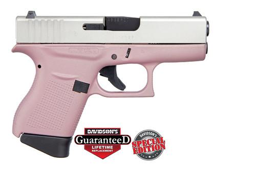 Glock 43 9mm - Cerakote Pink Frame Shimmering Aluminum Slide