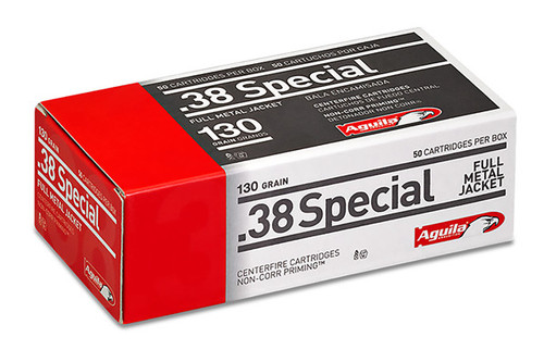 Aguila .38 Special 130 Grain FMJ 50 Rounds / Box Ammo