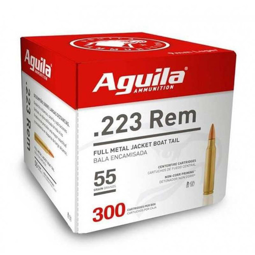 Aguila .223 Rem 55gr FMJ Boat Tail 300 Rounds