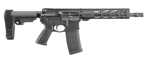 """This is a Ruger AR-556 pistol chambered in 350 LEGEND. This model features a free float handguard, 10.5"""" barrel, and sb brace."""