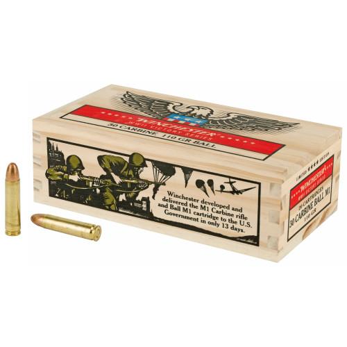 Winchester Ammunition .30 Carbine 110gr FMJ 20 Rounds / Box Ammo