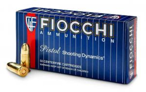Fiocchi 9mm 115 Grain Full Metal Jacket 50 Rounds/ Box Ammo