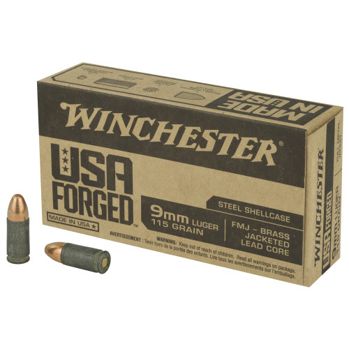 Winchester USA Forged 9mm 115 Grain FMJ 50 Rounds / Box Ammo