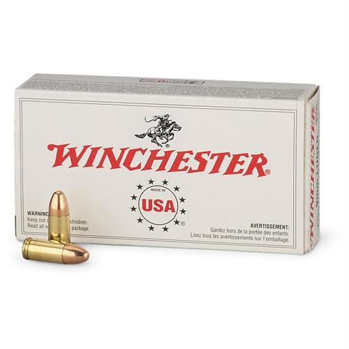 Winchester 9mm 115 Grain FMJ 50 Rounds/Box