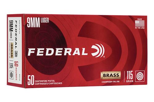 Federal Champion 9mm 115 Grain FMJ 50 Rounds / Box