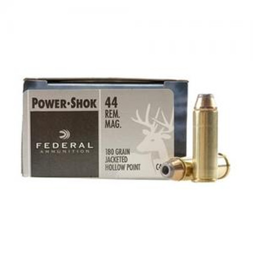 Federal Ammunition POWERSHOK .44 magnum 180 Grain JHP 20 Rounds / Box Ammo