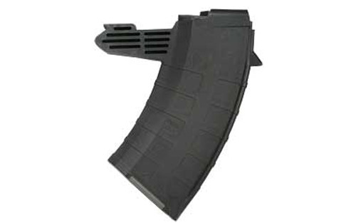 This is a SKS magazine for any 7.62x39mm,  20 round capacity, made by Tapco.
