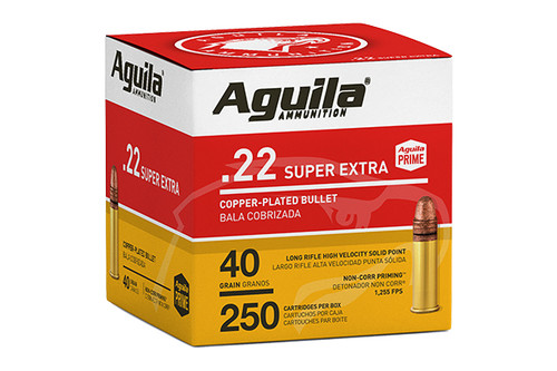 Aguila Ammunition - 22LR - 40gr Copper Plated Solid Point - 250 Rounds / Box - 1B221100