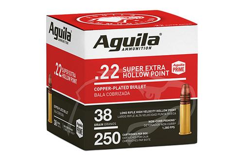 Aguila Ammunition - 22LR - 38gr HP - 250 Rounds / Box - 1B221103