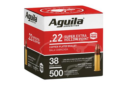 Aguila Ammunition - 22LR HV HP - 38 Grain - 500Rds Per Box - 1B221118