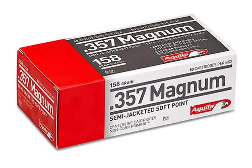 Aguila - 357 Magnum- 158gr SJSP - 50 Rounds/Box - 1E572823