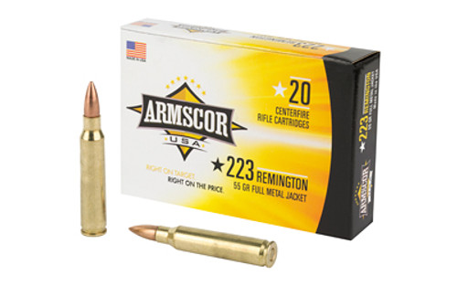 Armscor Ammunition - .223 - 55gr FMJ - 20 Rounds /Box - FAC223-1N