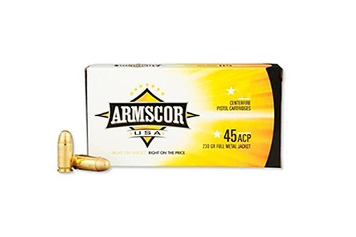 Armscor Ammunition - 45 acp - FMJ - 230gr - 100 Rounds / Box - 50443-ARM