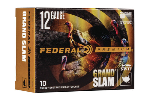 Federal Shot Shells - Turkey Grand Slam - 12 Gauge - 3 Inch - 1.75 Oz Pellet - 10 Rds Per Box - PFCX157F-5
