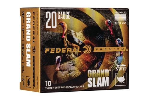 Federal Shot Shells - Federal Grand Slam - 20 Gauge - 3 Inch - 1.3125 Oz Pellets - 10 Rds Per Box - PFCX258F-5