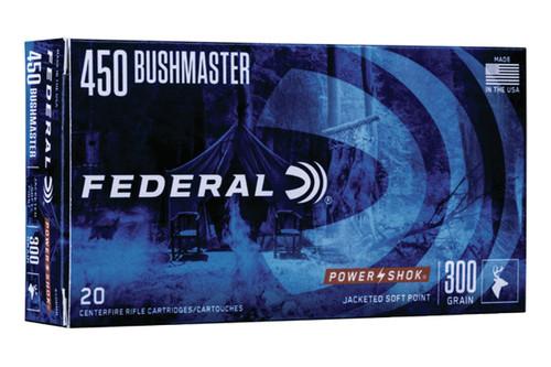 Federal Ammunition - 450 Bushmaster - 300 Grain SP - 20 Rds Per Box - 450BMB