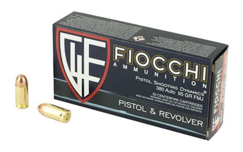 Fiocchi Ammunition - 380 acp - 95gr FMJ - 50 Round / Box - 380AP