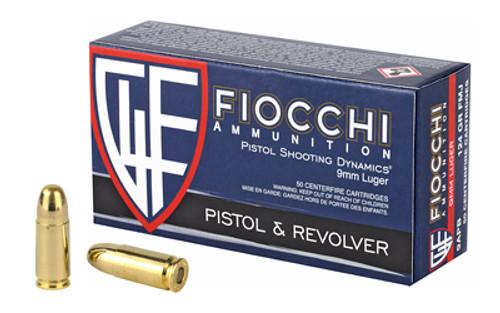 Fiocchi Ammunition - 9MM  - 124 Grain - FMJ - 50 Rounds Per Box - 9APB