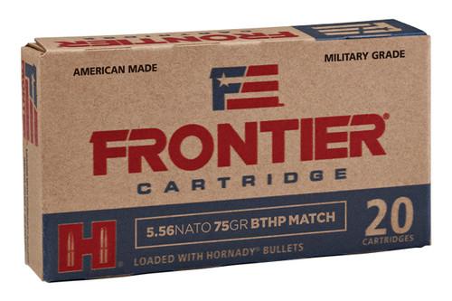 Hornady Ammunition - Frontier - 5.56 NATO - 75 Grain - 20Rds Per Box - FR320