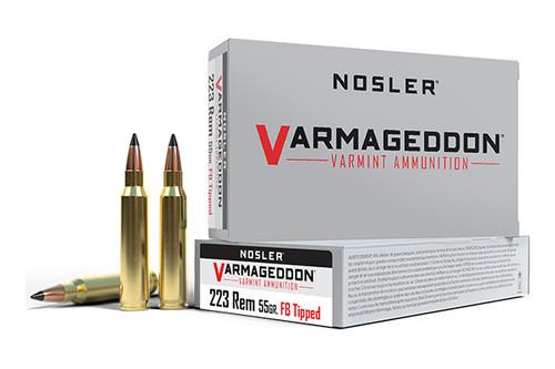 Nosler Ammunition - 223 Rem - Varmageddon Tip - 20 Rounds/Box - 65145