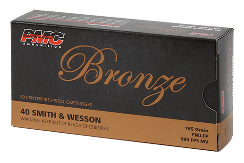 PMC Ammunition - Bronze - 40SW - 165ge FMJ - 40D