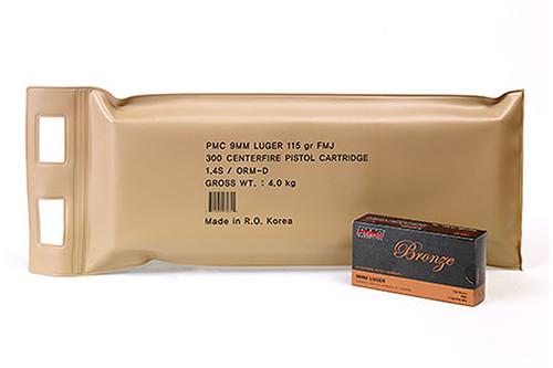 PMC Ammunition - 9MM - 115 Grain FMJ - PMC Battle Pack - 300 Rds Per Box - 9A-BP