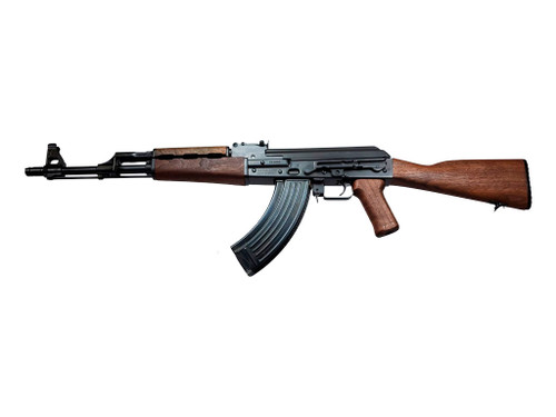This is a Zastava known as the ZPAPM70 chambered in 7.62X39, model ZR7762WM.