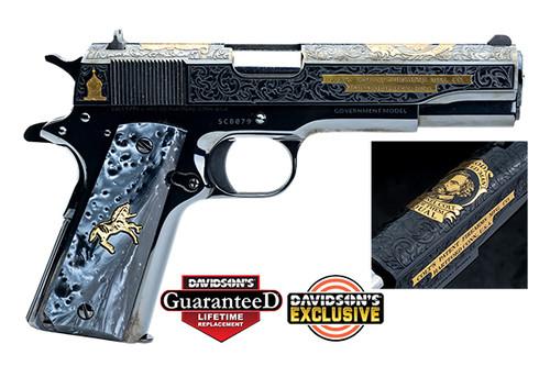 1911 Colt Pistol - .45 acp - Polished - Blued - Samuel Colt - O1911C-SCB