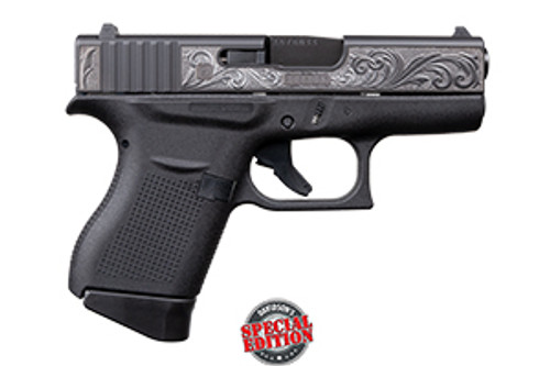 Glock Striker Fired  43 9MM Black & Engraved DAV-12402 850023124029 Abide Armory for sale new buy purchase wholesale discount where to find best deal cheapest price in stock