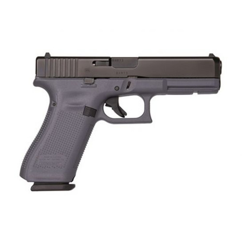 This is a Glock Striker Fired Pistol known as the 17 chambered in 9MM, Gray Frame, model PA1750203GF.