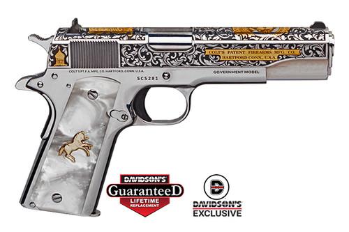 1911 Colt Pistol - .45 acp - Polished - Stainless Steel - Samuel Colt - O1911C-SS-SCS