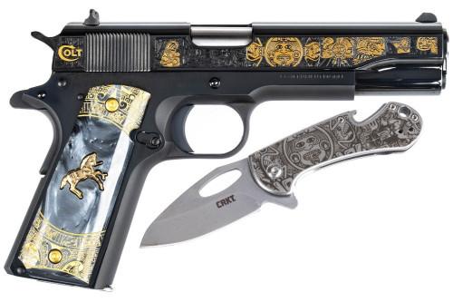 1911 Colt .38 Super - Talo - Aztec Empire - Serial # 500 - O1911C-38AZT