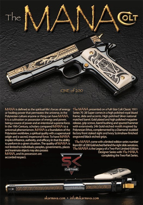 1911 Colt Pistol - Series 70 - .38 Super - SK Arms - MANA