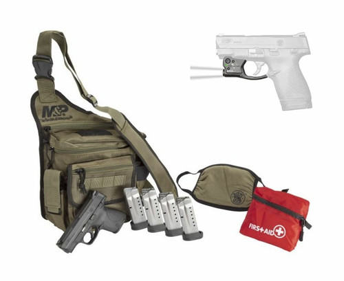 Smith & Wesson Pistol - M&P Shield - Bug Out Bag Bundle w/ Tactical Light & Holster - 9mm - 13383