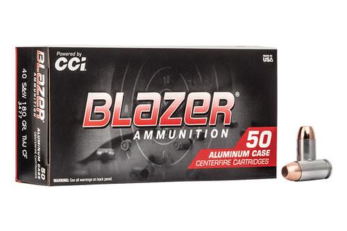 CCI Ammunition - Blazer - 40SW - 180 Grain TMJCF - 50 Rds Per Box - 3477-CCI
