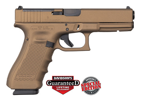 Glock Pistol - Apollo Customs - 17 Gen 4 - 9mm - 17Rd - Cerakote Burnt Bronze - ACG-57038