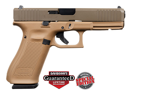 Glock Pistol - Apollo Customs - 17 Gen 5 - 9mm - 17Rd - Davidsons Dark Earth - ACG-57015