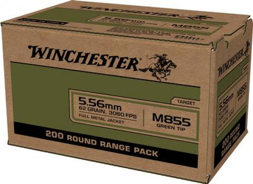 Winchester Ammunition - 5.56 - 62 Grain - M855 Green Tip - WM855200