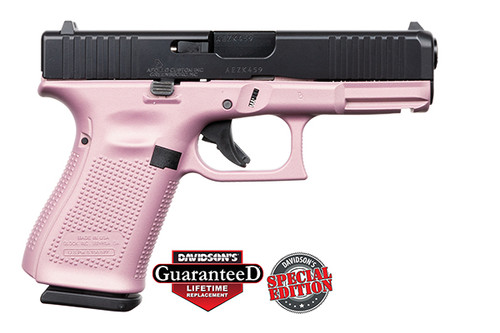 Glock Pistol - Apollo Customs - 19 Gen 5 - 9mm - 15Rd - Pink|Black - ACG-57023