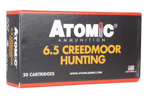 Atomic Ammunition - Hunting - 6.5 Creedmoor - 140 Grain - 20Rds/Box - 00468