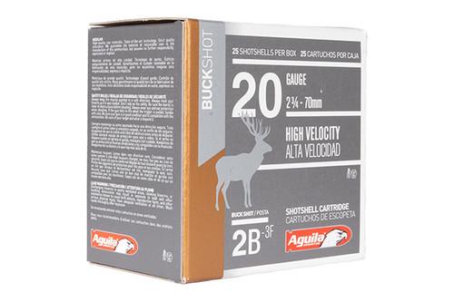 "Aguila Shotshells - Buckshot - 20 Gauge - 2.75"" - 25 Rds/Bx - 1C2002BA"