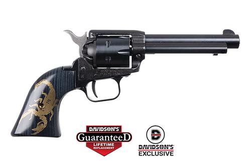 "Heritage Revolver - Rough Rider - Gold Scorpion - .22 Cal  - 4.75"" - RR22B4-GSCN"