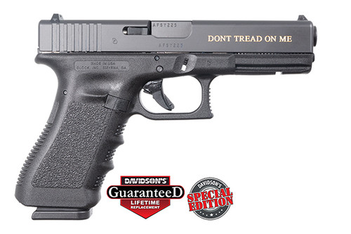 Glock Pistol -  17 Gen 3 - Gadsden Don't Tread On Me Engraved - 9mm - DAV-12413